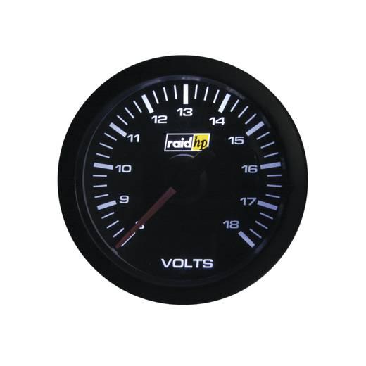 Kfz Einbauinstrument Voltmeter Messbereich 8 - 18 V raid hp 660179 Sport Weiß, Rot 52 mm