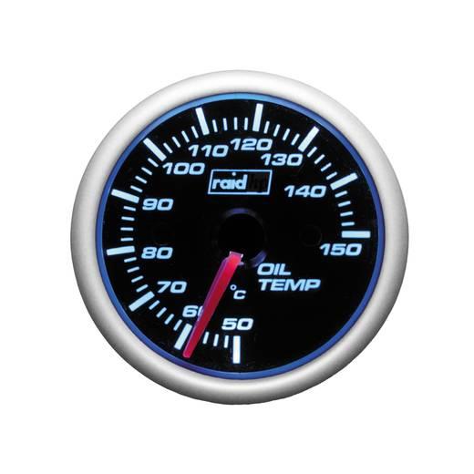 Kfz Einbauinstrument Öltemperaturanzeige raid hp 660185 Night Flight Blue Blau, Weiß 52 mm