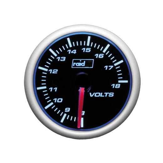 Kfz Einbauinstrument Voltmeter raid hp 660186 Night Flight Blue Blau, Weiß 52 mm
