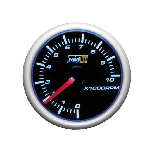 Kfz Einbauinstrument Drehzahlmesser Benzinmotor Messbereich 0 - 10000 U/min raid hp 660187 NightFlight Digital Blue Bla