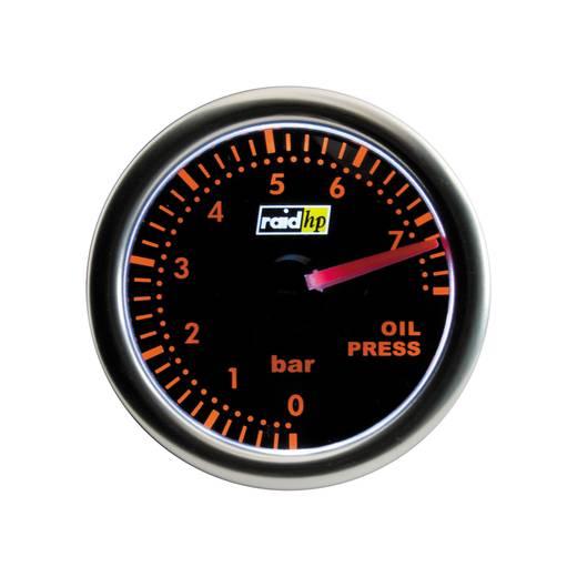 Kfz Einbauinstrument Öldruckanzeige Messbereich 7 - 0 bar raid hp 660252 Night Flight Red Rot, Grün, Gelb 52 mm