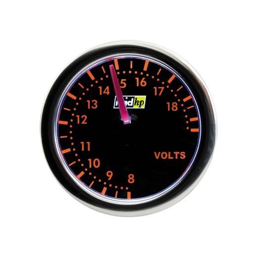 Kfz Einbauinstrument Voltmeter Messbereich 8 - 18 V raid hp 660255 Night Flight Red Rot, Grün, Gelb 52 mm