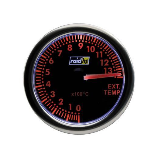 Kfz Einbauinstrument Abgastemperaturanzeige Messbereich 0 - 1300 °C raid hp 660413 Night Flight Red Rot, Grün, Gelb 52