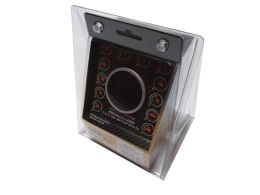 Kfz Einbauinstrument Wasser-Temperatur Messbereich 40 - 150 °C raid hp 660534 NightFlight Digital Red Rot, Grün, Gelb 5