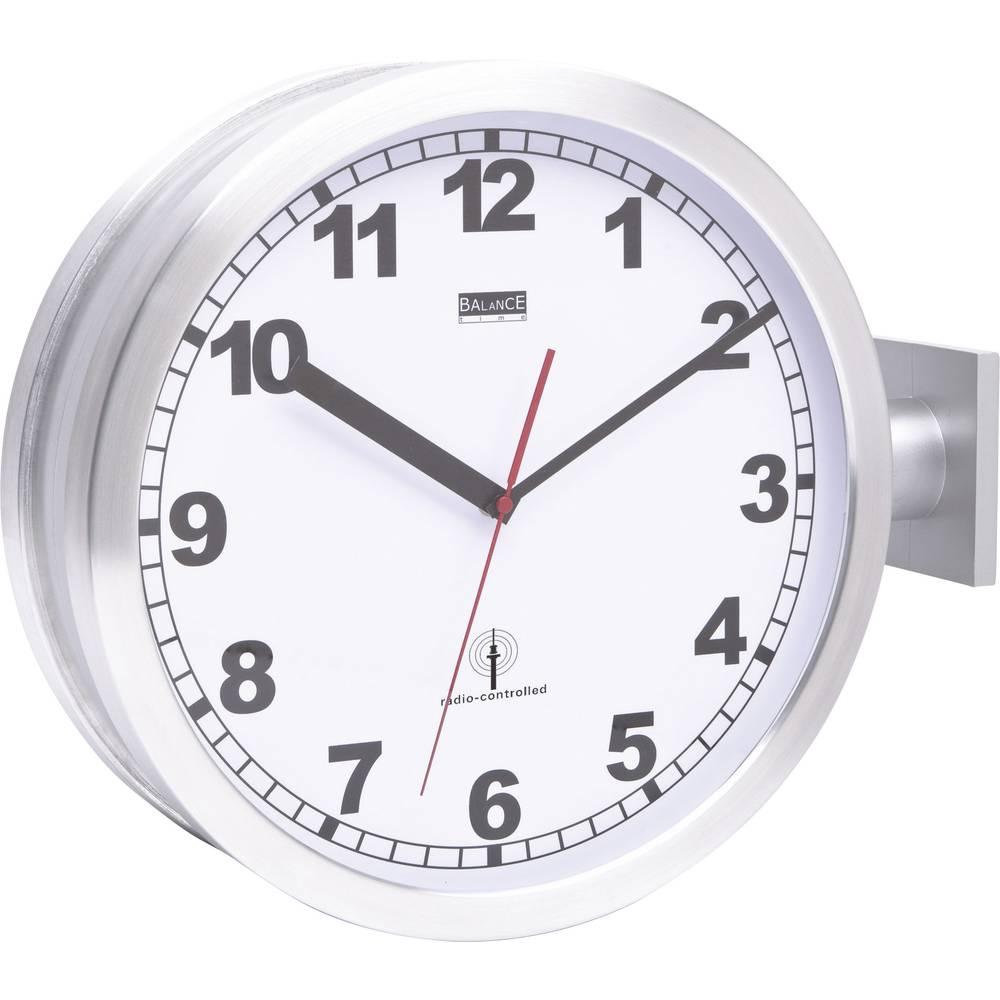 horloge murale radiopilot e 91764 47 aluminium 40 cm. Black Bedroom Furniture Sets. Home Design Ideas