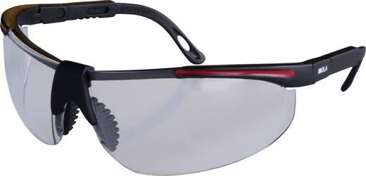 Schutzbrille protectionworld 2012007 Schwarz, Rot DIN EN 166-1