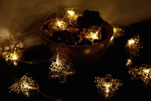 Motiv-Lichterkette Weihnachtsbaum Innen netzbetrieben 10 LED Warm-Weiß Beleuchtete Länge: 2.7 m Polarlite 678781