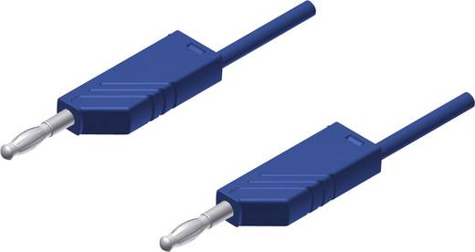 Messleitung [ Lamellenstecker 4 mm - Lamellenstecker 4 mm] 0.25 m Blau SKS Hirschmann MLN 25/2,5 bl