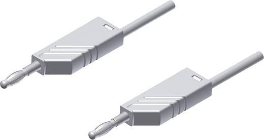 Messleitung [ Lamellenstecker 4 mm - Lamellenstecker 4 mm] 0.25 m Weiß SKS Hirschmann MLN 25/2,5 weiß
