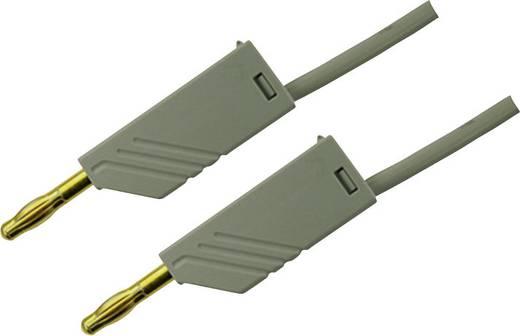 Messleitung [ Lamellenstecker 4 mm - Lamellenstecker 4 mm] 0.25 m Grau SKS Hirschmann MLN 25/2,5 Au grijs