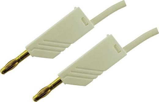 Messleitung [ Lamellenstecker 4 mm - Lamellenstecker 4 mm] 0.25 m Weiß SKS Hirschmann MLN 25/2,5 WS
