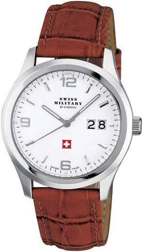 Quarz Armbanduhr 20009ST-2L (Ø) 39 mm Edelstahl Gehäusematerial=Edelstahl Material (Armband)=Leder Swiss Military