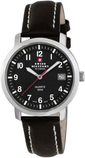 Quarz Armbanduhr 20019ST-11L (Ø) 39 mm Edelstahl Gehäusematerial=Edelstahl Material (Armband)=Leder Swiss Military