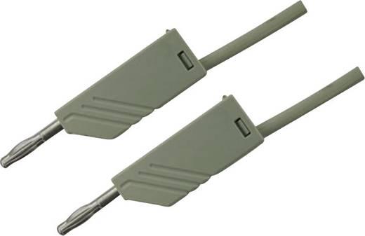 Messleitung [ Lamellenstecker 4 mm - Lamellenstecker 4 mm] 1 m Grau SKS Hirschmann MLN 100/2,5 GR