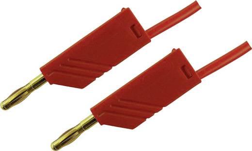 Messleitung [ Lamellenstecker 4 mm - Lamellenstecker 4 mm] 1 m Rot SKS Hirschmann MLN 100/2,5 Au rot