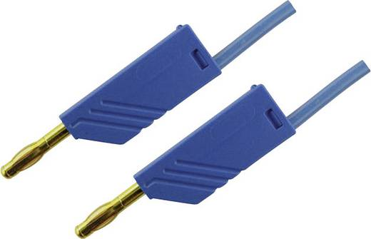 Messleitung [ Lamellenstecker 4 mm - Lamellenstecker 4 mm] 1 m Blau SKS Hirschmann MLN 100/2,5 Au blau