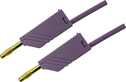 Messleitung [ Lamellenstecker 4 mm - Lamellenstecker 4 mm] 1 m Violett SKS Hirschmann MLN 100/2,5 Au violett