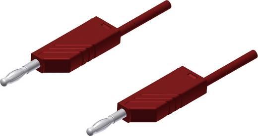 Messleitung [ Lamellenstecker 4 mm - Lamellenstecker 4 mm] 2 m Rot SKS Hirschmann MLN 200/2,5 rood