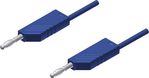 Messleitung [ Lamellenstecker 4 mm - Lamellenstecker 4 mm] 2 m Blau SKS Hirschmann MLN 200/2,5 blauw