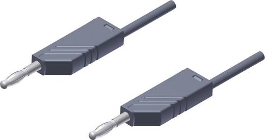Messleitung [ Lamellenstecker 4 mm - Lamellenstecker 4 mm] 2 m Grau SKS Hirschmann MLN 200/2,5 grijs