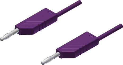 Messleitung [ Lamellenstecker 4 mm - Lamellenstecker 4 mm] 2 m Violett SKS Hirschmann MLN 200/2,5 paars