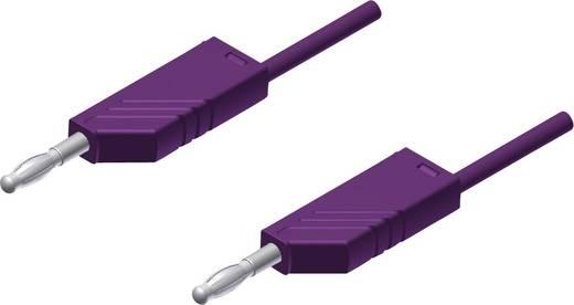 Messleitung [ Lamellenstecker 4 mm - Lamellenstecker 4 mm] 2 m Violett SKS Hirschmann MLN 200/2,5 violett