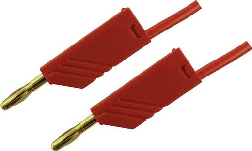 Messleitung [ Lamellenstecker 4 mm - Lamellenstecker 4 mm] 2 m Rot SKS Hirschmann MLN 200/2,5 Au rood