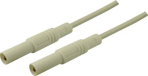 Sicherheits-Messleitung [ Lamellenstecker 4 mm - Lamellenstecker 4 mm] 2 m Weiß SKS Hirschmann MLS GG 200/2,5 weiß/whit