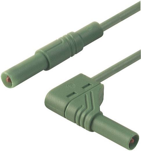 Sicherheits-Messleitung [ Lamellenstecker 4 mm - Lamellenstecker 4 mm] 1 m Grün SKS Hirschmann MLS WG 100/1 gn