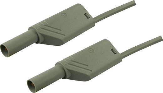 Sicherheits-Messleitung [ Lamellenstecker 4 mm - Lamellenstecker 4 mm] 0.5 m Grau SKS Hirschmann MLS WS 50/2,5 grau/gre