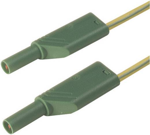 Sicherheits-Messleitung [ Lamellenstecker 4 mm - Lamellenstecker 4 mm] 1 m Gelb SKS Hirschmann MLS WS 100/2,5 ge/gn
