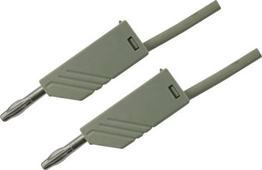 Messleitung [ Lamellenstecker 4 mm - Lamellenstecker 4 mm] 1.5 m Grau SKS Hirschmann MLN 150/2,5 grau/grey