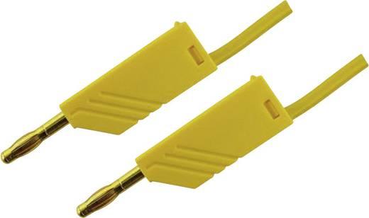 Messleitung [ Lamellenstecker 4 mm - Lamellenstecker 4 mm] 1.5 m Gelb SKS Hirschmann MLN 150/2,5 Au gelb
