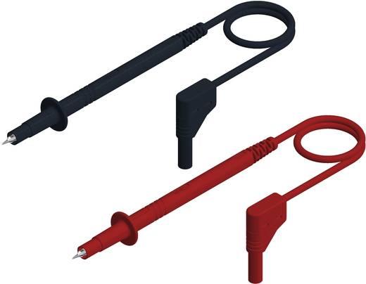 Sicherheits-Messleitungs-Set [ Lamellenstecker 4 mm - Prüfspitze] 1 m Schwarz, Rot SKS Hirschmann PL 2600 S W SET