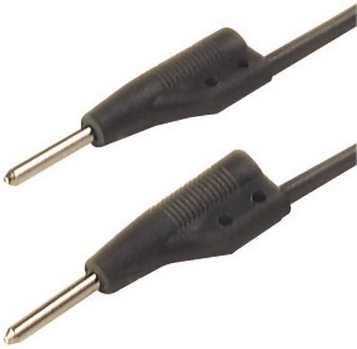 Messleitung [ Stecker 2 mm - Stecker 2 mm] 0.25 m Schwarz SKS Hirschmann MVL 2/25 sw