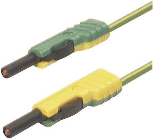 Messleitung [ Lamellenstecker 4 mm - Lamellenstecker 4 mm] 1 m Gelb SKS Hirschmann MLB 100/1 V ge/gn