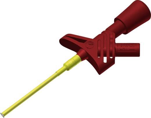 Sicherheits-Abgreifklemme Steckanschluss 2 mm CAT III 1000 V Rot SKS Hirschmann KLEPS 1600 rouge