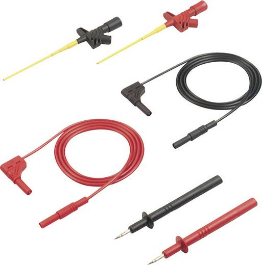Sicherheits-Messleitungs-Set [ Lamellenstecker 4 mm - Lamellenstecker 4 mm] 1 m Schwarz, Rot SKS Hirschmann MMS 2030