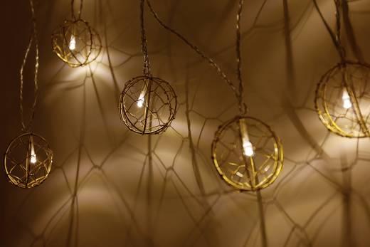 LED-Kugellichterkette gold