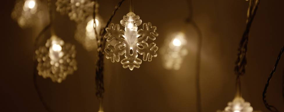 Polarlite 679311 Motiv-Lichterkette Schneeflocken