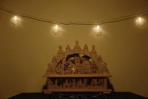 Motiv-Lichterkette Schneeflocken netzbetrieben 16 LED Warm-Weiß Beleuchtete Länge: 4.6 m Polarlite 679311