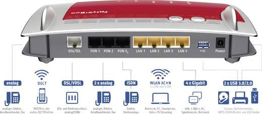 AVM FRITZ!Box 7490 + 2x AVM FRITZ!Fon C5 WLAN Router mit Modem Integriertes Modem: ADSL, ADSL2+, VDSL 2.4 GHz, 5 GHz 1.7
