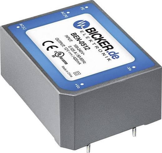 AC/DC-Printnetzteil Bicker Elektronik BEN-4015 15 V/DC 2.66 A 40 W