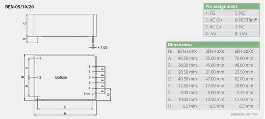 AC/DC-Printnetzteil Bicker Elektronik Ben-2015 15 V/DC 1.3 A 20 W