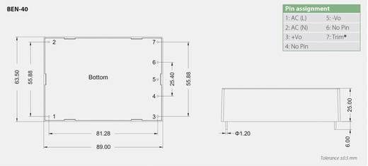 AC/DC-Printnetzteil Bicker Elektronik BEN-4024 24 V/DC 1.66 A 40 W