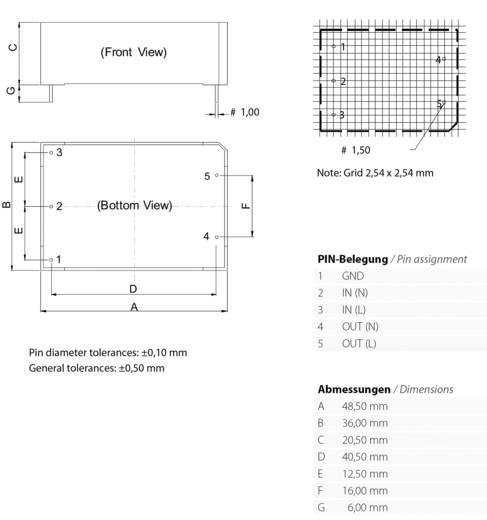 AC/DC-Printnetzteil Bicker Elektronik PSZ-1010 0.5 A