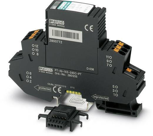 Überspannungsschutz-Ableiter Überspannungsschutz für: Verteilerschrank Phoenix Contact PT-IQ-2X1-12DC-PT 2801245 10 kA