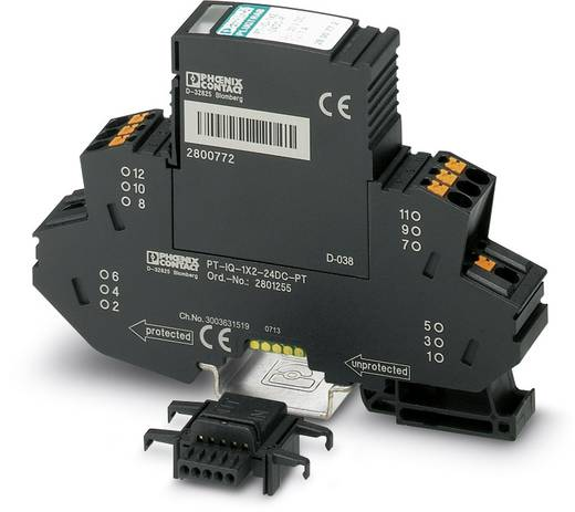 Überspannungsschutz-Ableiter Überspannungsschutz für: Verteilerschrank Phoenix Contact PT-IQ-2X1+F-12DC-PT 2801246 10 kA