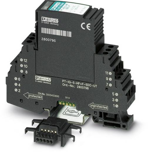 Überspannungsschutz-Ableiter Überspannungsschutz für: Verteilerschrank Phoenix Contact PT-IQ-5-HF+F-5DC-PT 2801292 10 k