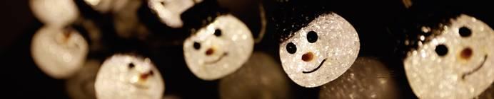 Polarlite Motiv-Lichterkette Schneemänner Außen